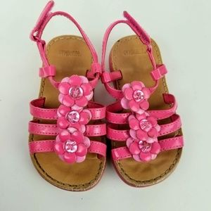 Gymboree girls toddler pink sandals